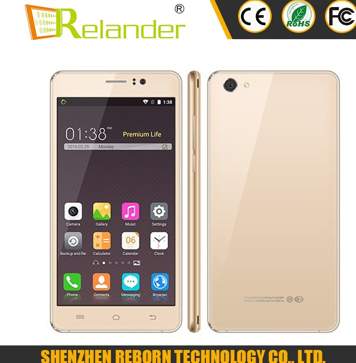Big HD screen Android 5.1 Quad Core Smartphone MT6580M quad core Mobile phone From China