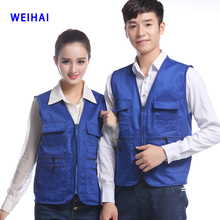 Wholesale hot selling Multi-pocket advertising volunteer custom printing Vest