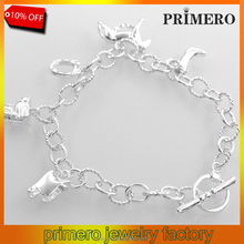 PRIMERO Cheap 925 silver bracelet fashion jewelry bracelet horse hoof Nickle free antiallergic horse bracelet jewelry wholesale