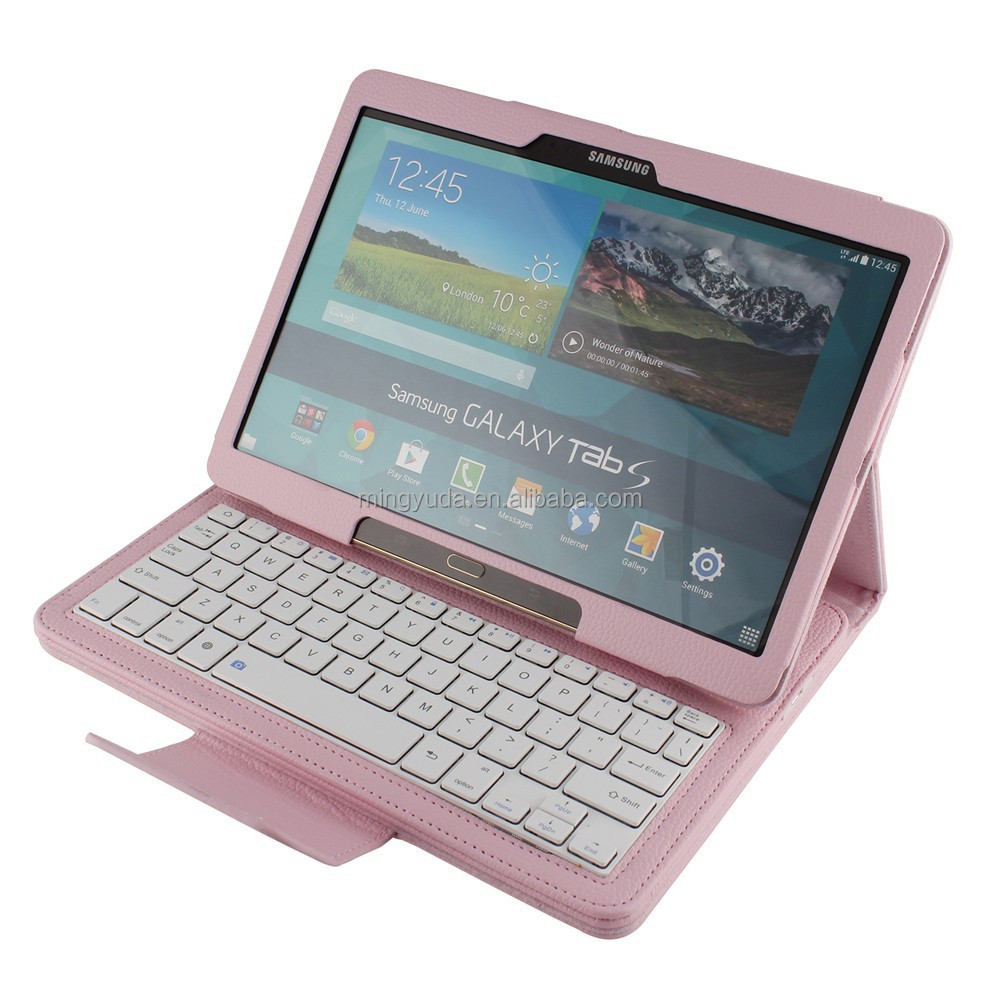 Magnetic detachable mini wireless keyboard leather case For samsung galaxy tab s 10.5