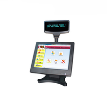 ComPOSxb 15 inch LED touch pos machine with VFD Customer Display/pos terminal for software supermarket PC POS8815A