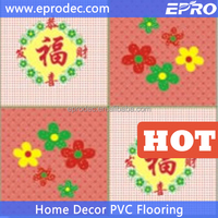 indoor plastic PVC material commercial vinyl flooring with glitter