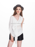 2015 fashion girls short tops chiffon