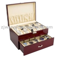 two-double wooden watch storage box from China factory