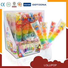 mimi bear sugus soft fruit lollipop candy in shop
