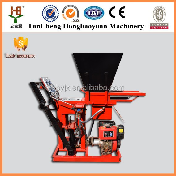 2016 new products 2016 sy1-10 small scale fully automatic clay bricks making machine