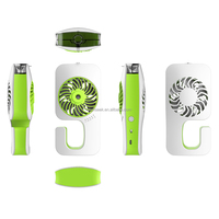 Multi-functional Portable Rechargeable Mini Handheld Desk Fan 3 Speed Modles Cool USB Fan Powered by USB or built in battery