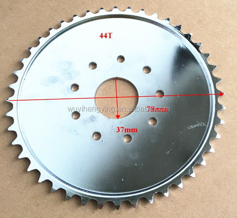 44T bicycle sprocket for 2 stroke 80cc engine kit parts