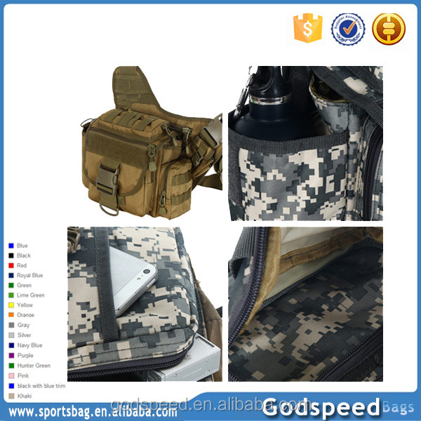 Outdoor camouflage tactical sport waist bag with bottle holder