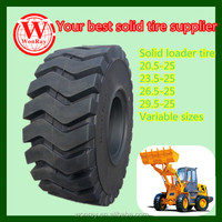 Hot sale heavy duty industrial backhoe loader tire 26.5-25,solid tire with rim