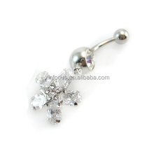 Hot Sale Star Shaped Fancy Fake Unique Dangle Navel Belly Button Rings Body Piercing Jewelry