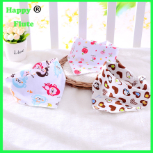 HappyFlute 100% organic baby bids New design fashion cotton baby washable and reusable baby bibs