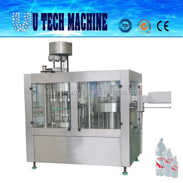 High Speed Native Mineral Water Valve Filling Plant