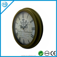 "12.5"" metal classical wall clock for home decoration"