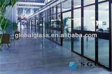 High quality insulated glass for decorative room separators