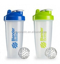BPA Free 600ML plastic protein shaker bottle with mixer,mixing shaker bottle