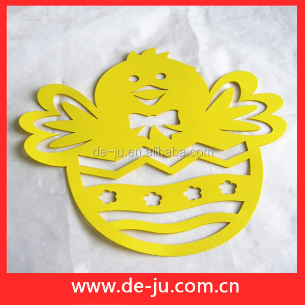 Yellow Halloween EVA Egg Stickers Decoration