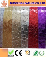 2016 new design synthetic/faux snakeskin pu leather