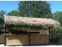 plastic fireproof recycled palm leaf roofing for tiki hut