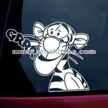 plastic christmas/car window/door vinyl decals with tailor-made disign and printing