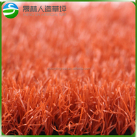 Red Decoration Artificial Grass for Gym Flooring
