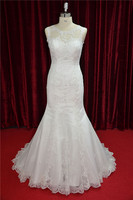 Rhinestone Beaded Wedding Dress Plus Size Mermaid Gown
