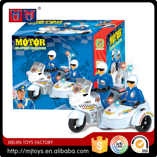Meijin Series B/O motor car with light and sound Super Police Motor for sale
