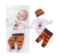 2017 New style hot sale halloween baby clothing sets boys clothing baby kids boy clothes