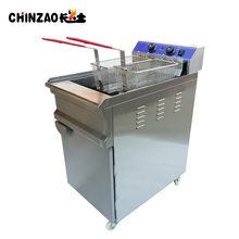 Continuous Deep Fryer Large Capacity Electric Fryer With Wheel Free Standing