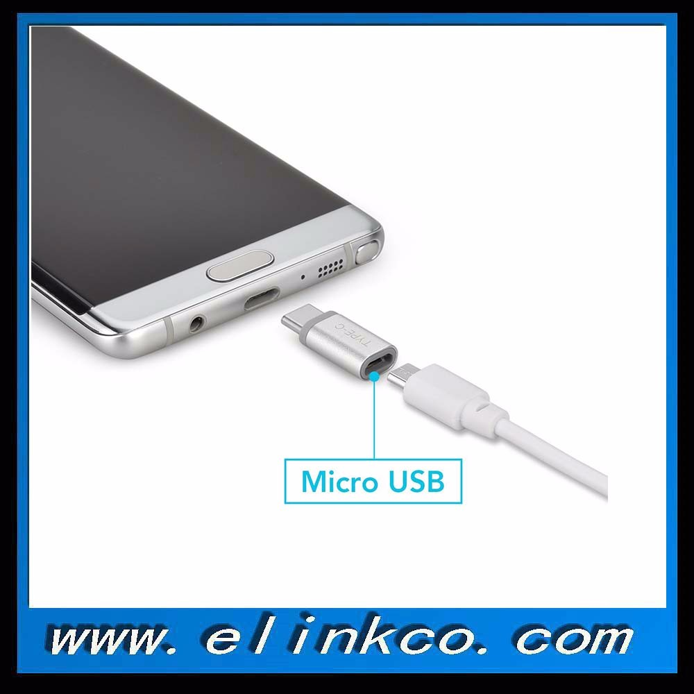 USB 3.1 Type C to Micro USB Convert Connector Support Data Transfer and Charging