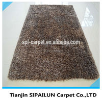 Home decorating 100% microfiber long pile wool plain carpet