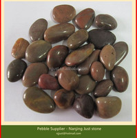 Red polished pebble stone from China