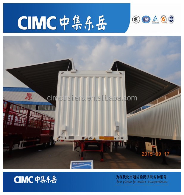 CIMC High Quality Wing Van Trailer,Wing Body Truck Trailer,Open Van Semi Trailers