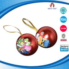 Custom Christmas Gift Ball for Tin Candy Box Packaging