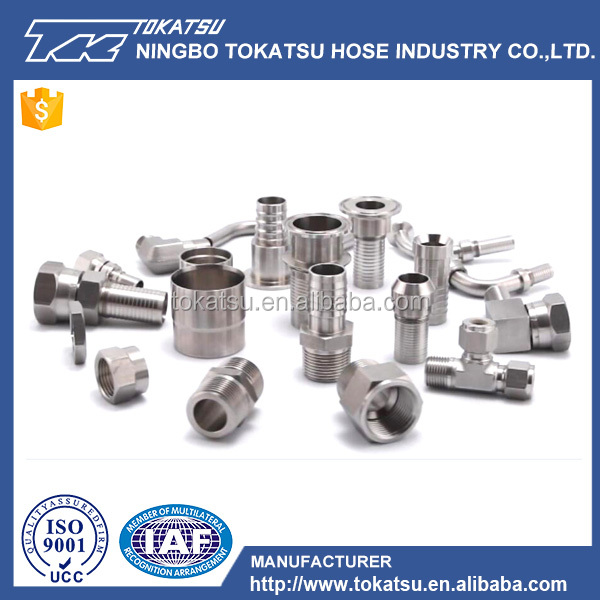 China supplier custom high quality stainless steel fitting hydraulic hose connector