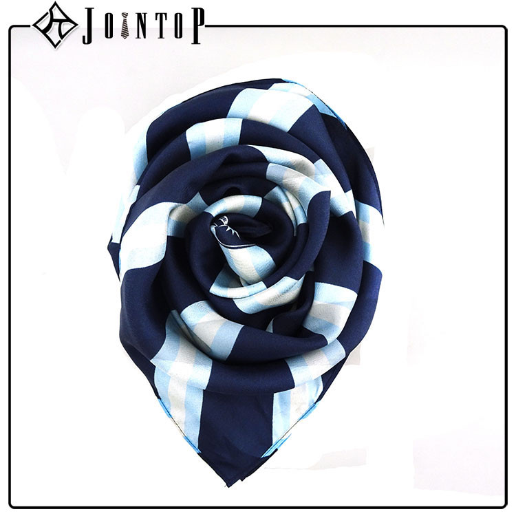 Wholesale high quality strip blank stripe satin silk scarf