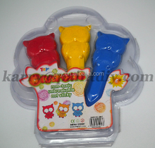 non-toxic fashionable 3 color plastic Crayon owl Set for kids passed ASTM D4236&EN71 testing standard