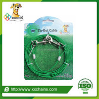 PVC coated pet dog tie-out cable