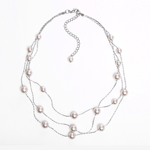 Wholesale Fashion Jewelry Royal Elegant Golden Pearl Layered Necklace
