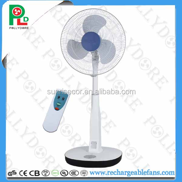 "PLD-216 remote control 16"" LCD display fan with led light"