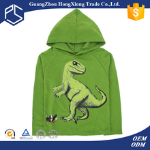 Fall fancy printed design hooded long sleeve child t-shirt