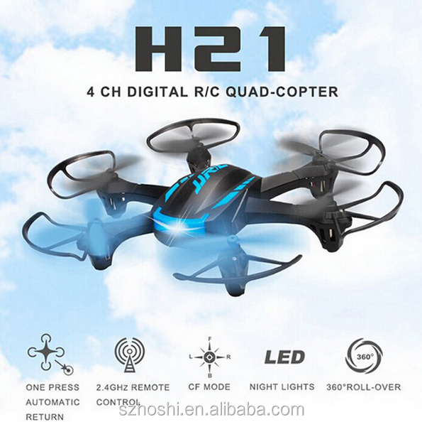 Mini Drone H21 6CH Headless Mode One Key Return RC Dron Quadcopter helicopter RTF 2.4GHz Best Gift For Kids