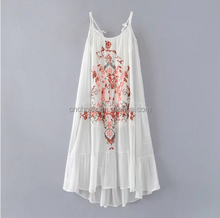 Z20229W newest summer embroideried harness dress for women