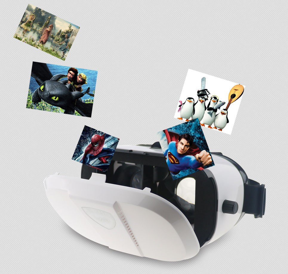 3D VR glasses factory,3D bluetooth glasses with remote controller,3D bluetooth headset