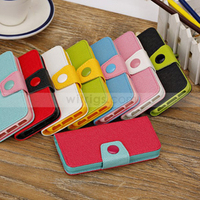 Dual Color Magnetic Wallet Folio Stand Leather Case for Apple iPhone 5C