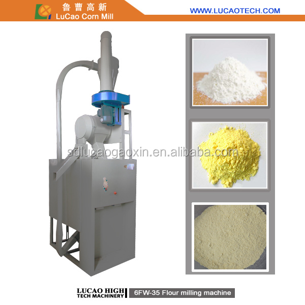 Automatic 6FW-35 small rice and corn milling machines