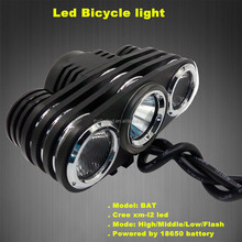 Mountain Bike 2014 New JEXREE Multi-Function High Power Max Brightness1800Lumens 1xCREE XM-L2+2xXP-E LED cree led bicycle light