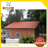 Fast delivery resin roof tiles / Kerala style corrugated sheet plastic