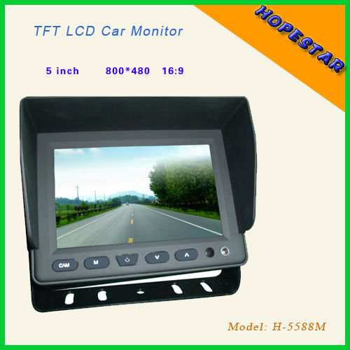 800*480 5'' car tv monitors DC 12V with CE&RoHS