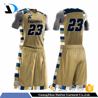 Guangzhou Daijun OEM yellow basketball jersey design basketball jersey yellow color custom jersey basketball